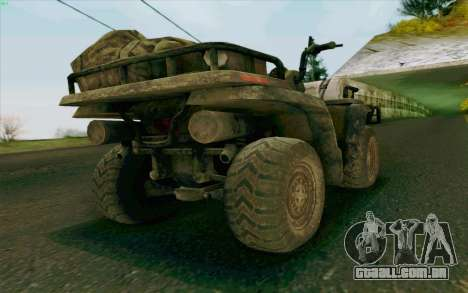 ATV da medalha de honra para GTA San Andreas esquerda vista