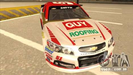 Chevrolet SS NASCAR No. 51 Guy Roofing para GTA San Andreas esquerda vista