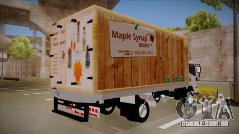 Chevrolet FRR Maple Syrup World para GTA San Andreas traseira esquerda vista