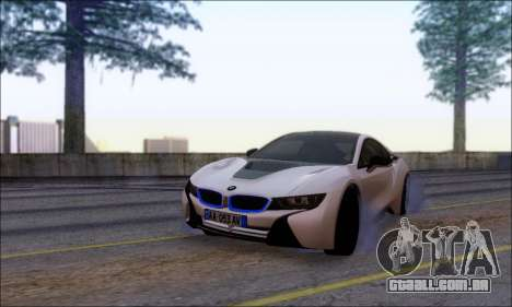 BMW I8 para GTA San Andreas vista traseira