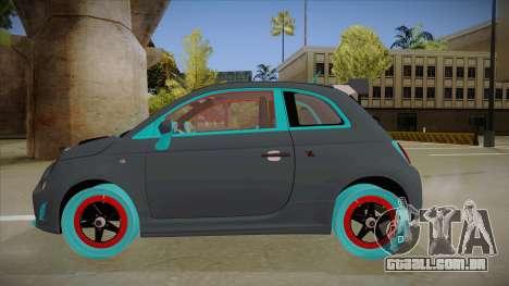 Abarth 500 Esseesse 2010 para GTA San Andreas traseira esquerda vista