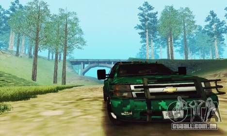 Chevrolet Silverado 3500 Military para GTA San Andreas esquerda vista