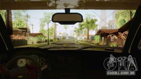 Chevrolet Trail Blazer para GTA San Andreas vista interior