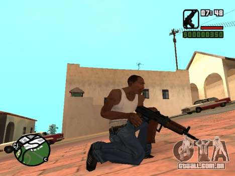 AKS-74U mm para GTA San Andreas terceira tela
