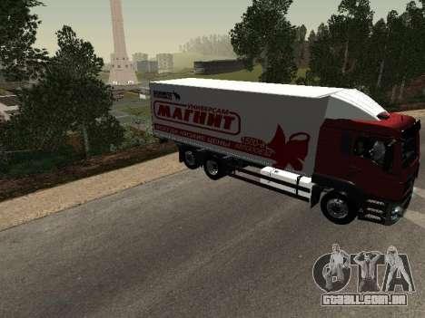 MAN TGA 26350 ímã para GTA San Andreas vista direita