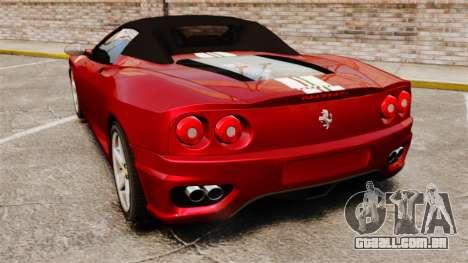 Ferrari 360 Spider 2000 [EPM] para GTA 4 traseira esquerda vista