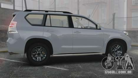 Toyota Land Cruiser Prado 150 para GTA 4 esquerda vista