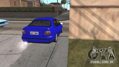 Fiat Marea Sedan para GTA San Andreas traseira esquerda vista