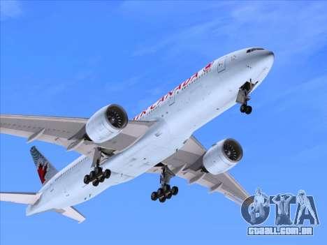 Boeing 777-200ER Air Canada para GTA San Andreas vista superior