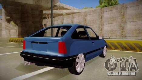 Chevrolet Kadett para GTA San Andreas vista direita