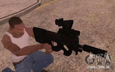 AEG P90 com lanterna para GTA San Andreas segunda tela