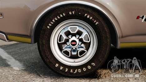 Oldsmobile Cutlass Hurst 442 1969 v1 para GTA 4 vista de volta