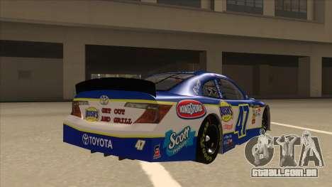Toyota Camry NASCAR No. 47 Bushs Beans para GTA San Andreas vista direita