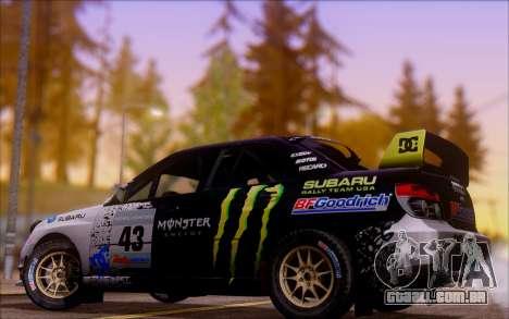 Subaru Impreza WRX STI WRC para GTA San Andreas vista traseira
