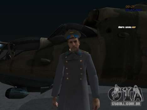 Coronel-General da Força Aérea Soviética para GTA San Andreas terceira tela