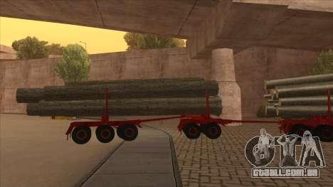 2-nd-madeira transportadora para Hayes H188 para GTA San Andreas vista traseira