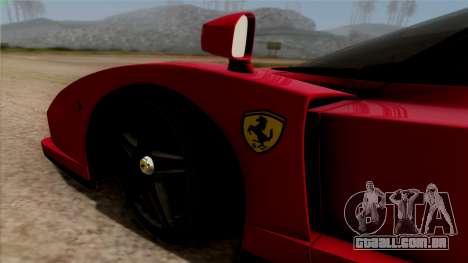 Ferrari Enzo 2002 para GTA San Andreas vista traseira