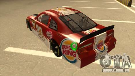 Toyota Camry NASCAR No. 83 Burger King Dr Pepper para GTA San Andreas vista traseira
