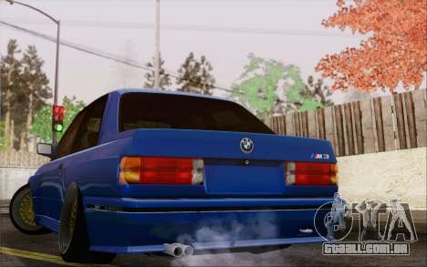 BMW M3 E30 Stance para GTA San Andreas esquerda vista