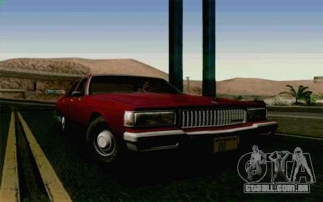 Chevrolet Caprice 1987 para GTA San Andreas vista traseira