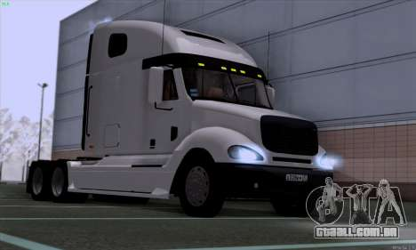 Freightliner Columbia para GTA San Andreas traseira esquerda vista