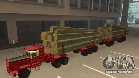 Hayes caminhão H188 para GTA San Andreas vista traseira
