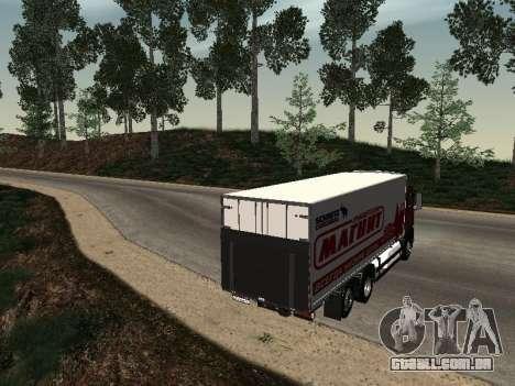 MAN TGA 26350 ímã para GTA San Andreas traseira esquerda vista