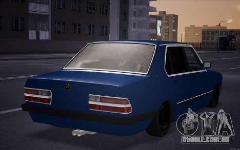 BMW 5-er E28 Hobo para GTA San Andreas esquerda vista