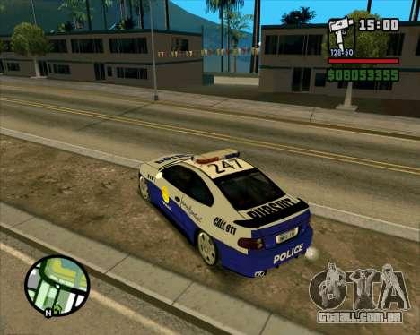 Pontiac GTO Pursit Edition para GTA San Andreas vista direita