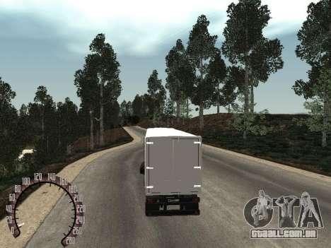 Trailer de neve Nefaz 93344 para GTA San Andreas traseira esquerda vista