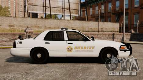 GTA V sheriff car [ELS] para GTA 4 esquerda vista