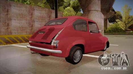 Zastava 750 para GTA San Andreas vista direita