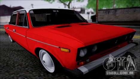 VAZ 2106 Retro para GTA San Andreas vista traseira