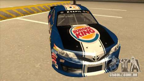 Toyota Camry NASCAR No. 93 Burger King Dr Pepper para GTA San Andreas esquerda vista
