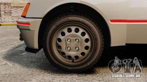 Peugeot 205 Turbo 16 para GTA 4 vista de volta