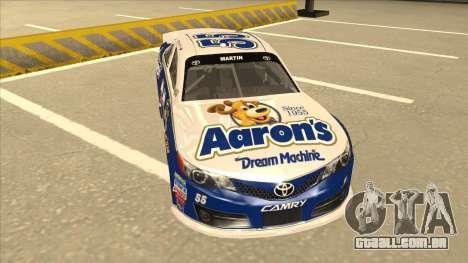 Toyota Camry NASCAR No. 55 Aarons DM blue-white para GTA San Andreas esquerda vista