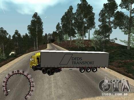 Trailer de Kamaz 54115 para GTA San Andreas traseira esquerda vista