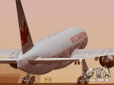 Boeing 777-200ER Air Canada para GTA San Andreas vista inferior