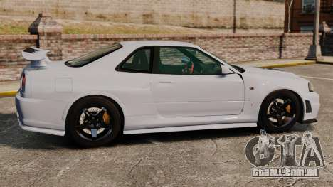 Nissan Skyline R34 GT-R NISMO Z-tune para GTA 4 esquerda vista