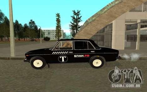 Táxi de 2106 VAZ para GTA San Andreas esquerda vista