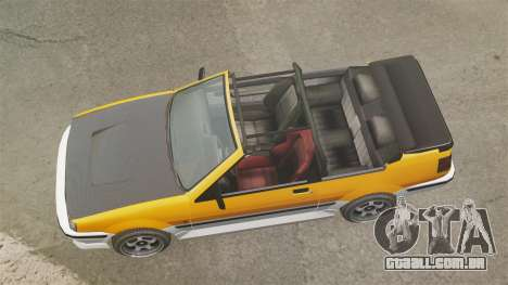Versão conversível do Futo para GTA 4 vista direita
