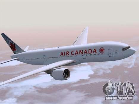Boeing 777-200ER Air Canada para GTA San Andreas vista interior