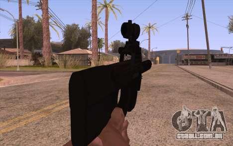 AEG P90 com lanterna para GTA San Andreas terceira tela