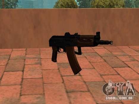 AKS-74U mm para GTA San Andreas segunda tela