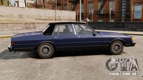 Chevrolet Caprice Brougham 1986 para GTA 4 esquerda vista