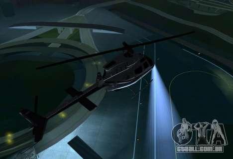 OH-58 Kiowa Police para GTA San Andreas vista direita
