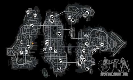 Mini armazém para GTA 4 por diante tela