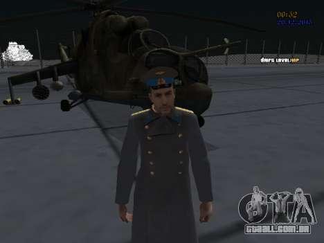 Coronel-General da Força Aérea Soviética para GTA San Andreas por diante tela