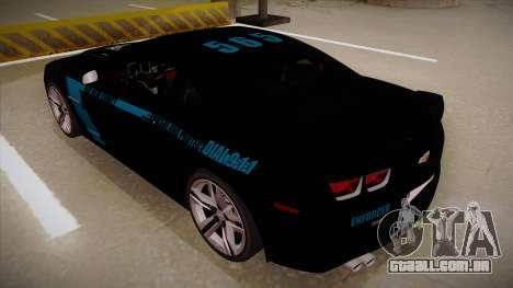 Chevrolet Camaro ZL1 2012 RCPD V1.0 para GTA San Andreas vista traseira