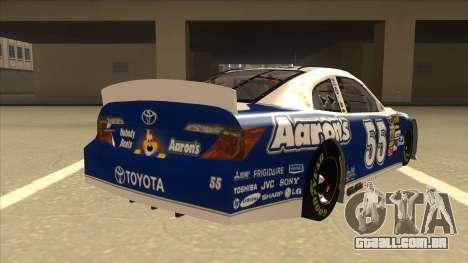 Toyota Camry NASCAR No. 55 Aarons DM blue-white para GTA San Andreas vista direita